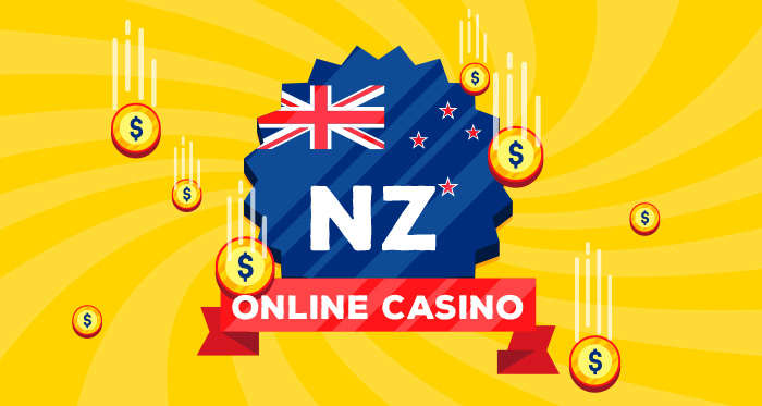 NZ flag online casino with coins